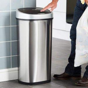 poubelle automatique TecTake 50 litres