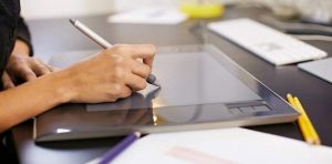tablette graphique + stylos tactiles de luxe